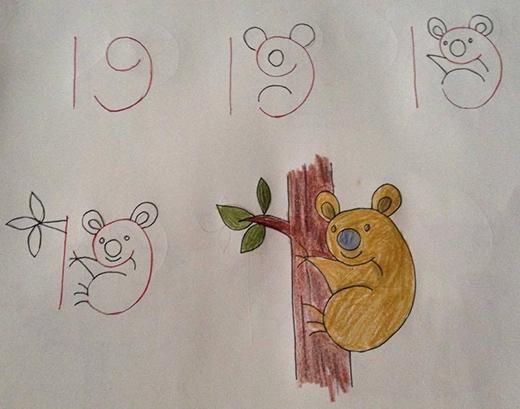 Số 19 làm nên chú gấu Koala trông cũng giống thật đấy chứ!