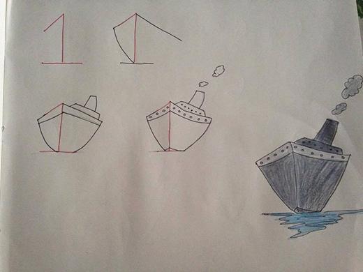 Bạn chỉ biết vẽ con thuyền đơn giản? Hãy bổ sung thêm tuyệt chiêu vẽ một chiếc thuyền đồ sộ thế này chỉ bằng con số 1 ngay đi nào!