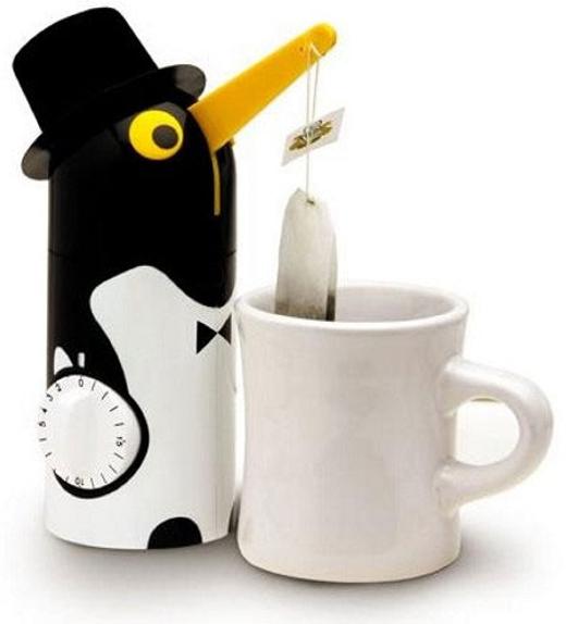 Dụng cụ pha trà túi lọc. Nó có thể tự vớt túi lọc theo thời gian.