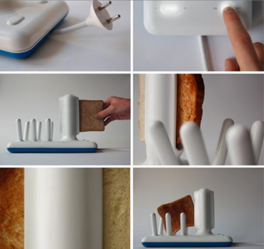 Lò nướng bánh mì kèm giá đỡ, bạn sẽ không sợ chúng rơi mỗi khi nướng xong.