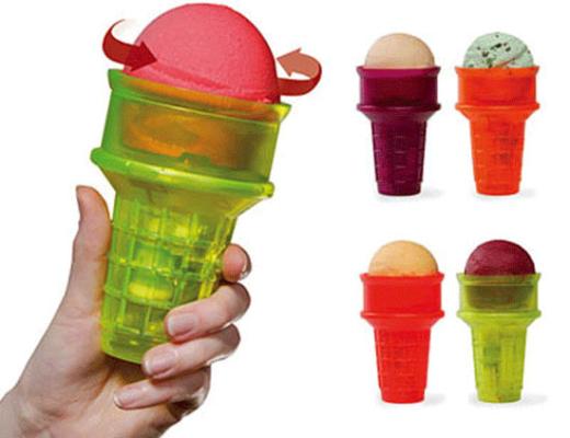 Dụng cụ để ăn kem độc đáo này sẽ giúp bạn không còn lo lắng bị bẩn tay nữa rồi!
