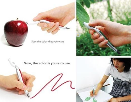 Chỉ cần hướng đầu bút vào màu mà mình muốn, nó sẽ tự đưa ra đúng màu sắc bạn yêu cầu.