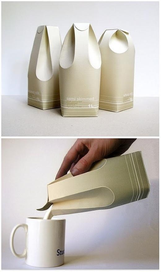 Hộp sữa không cần mở nắp.