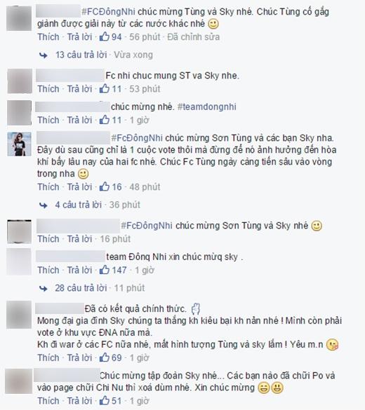 Fan Đông Nhi chơi đẹp chúc mừng Sơn Tùng thắng giải EMA - Tin sao Viet - Tin tuc sao Viet - Scandal sao Viet - Tin tuc cua Sao - Tin cua Sao