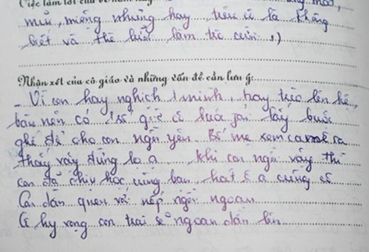 Nhận xét của cô giáo luôn là một trong những nỗi ám ảnh của một thời học sinh.