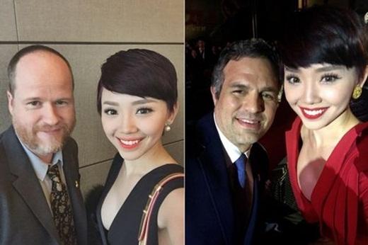 Cô cũng đã có cuộc trò chuyện thân mật cùng đạo diễn Joss Whedon và diễn viên Mark Ruffalo. - Tin sao Viet - Tin tuc sao Viet - Scandal sao Viet - Tin tuc cua Sao - Tin cua Sao