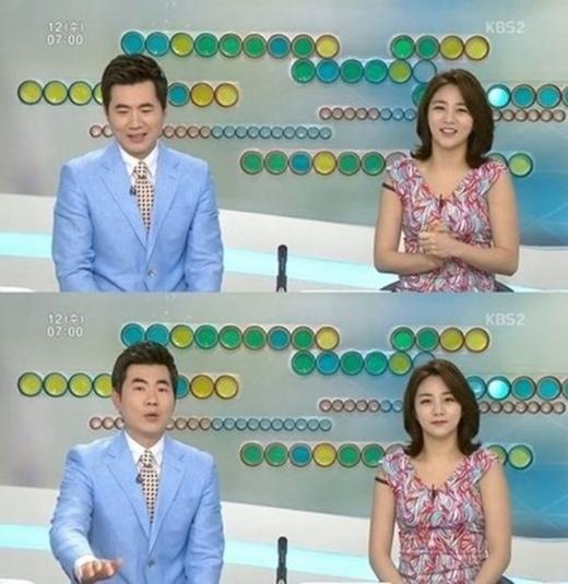 Phát thanh viên đài KBS cũng gặp sự cố tương tự với nữ diễn viên So Yi Hyun trong chương trình trực tiếp chào buổi sáng. Tuy vậy, thái độ bình tĩnh đầy chuyên nghiệp và hoàn thành xuất sắc buổi ghi hình của người đẹp nhận về khá nhiều lời khen ngợi.