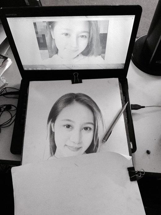 Đây là cách Thắng Kyo thực hiện một bức chân dung chì tuyệt đẹp.
