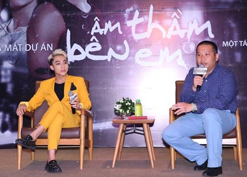 Đạo diễn Quang Huy chia sẻ về quá trình thực hiện MV Âm thầm bên em trong buổi ra mắt.