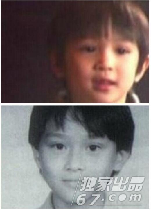 Con trai Trương Trí Lâm và anh khi cùng tuổi. Cậu bé có đôi mắt còn long lanh hơn cả cha.