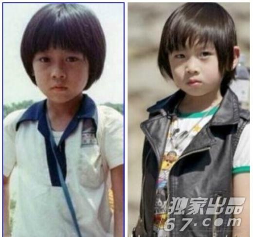 Lâm Chí Dĩnhvà nhóc Kimi 4 tuổi, Độ giống nhau hai bố con gần như là 90%. Tiểu nam tử Kimi cũng vì thế đang là nhóc tì đắt show nhất Đài Loan.