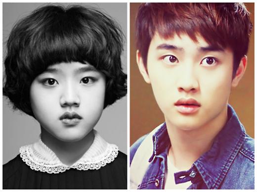 Kim Hyang Ki dường như là bản sao thu nhỏ của anh chàng D.O (EXO).