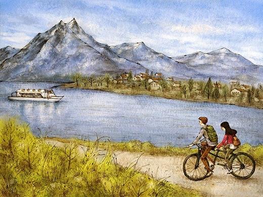 Sẽ nhớ mãi những chiều đạp xe ra ngoại ô ngắm cảnh thanh bình và trong trẻo cũng như chính sự trong sáng và nhẹ nhàng khi bên nhau.