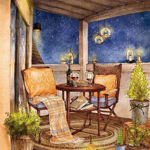 Những buổi tối lãng mạn bên ánh nến và rượu vang...
