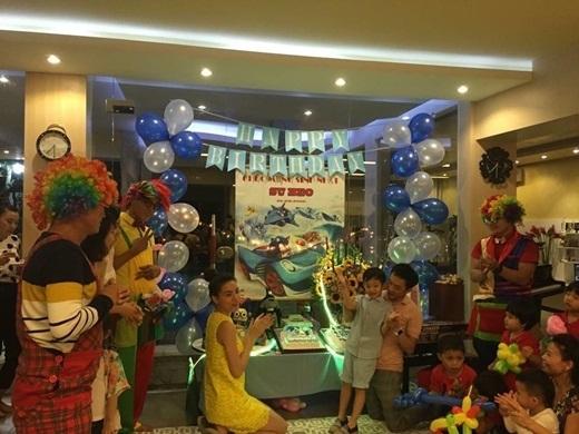 Hồ Ngọc Hà, Cường Đôla trong bữa tiệc sinh nhật Subeo tròn 5 tuổi mới đây. - Tin sao Viet - Tin tuc sao Viet - Scandal sao Viet - Tin tuc cua Sao - Tin cua Sao