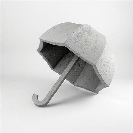 Có ai muốn mang chiếc ô bằng bê tông này ra đường không? Chắc là không bởi có mang cũng... chưa chắc nổi!