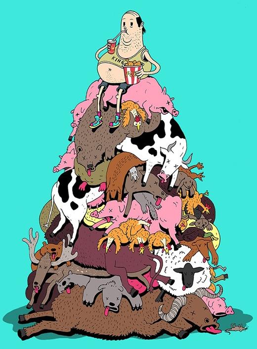 Giết thịt quá nhiều động vật cũng khiến cho cuộc sống trở nên ít ý nghĩa hơn.