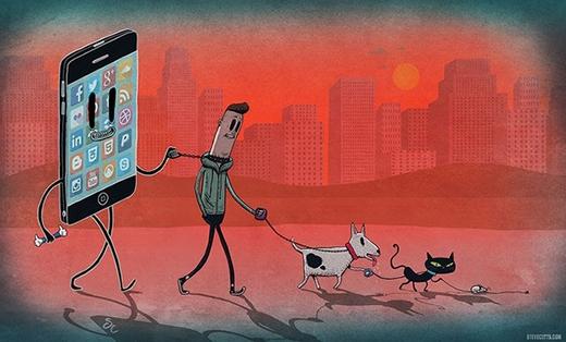 Smartphone đang điều khiển cuộc sống của chúng ta giống như cách chúng ta làm với vật nuôi vậy.