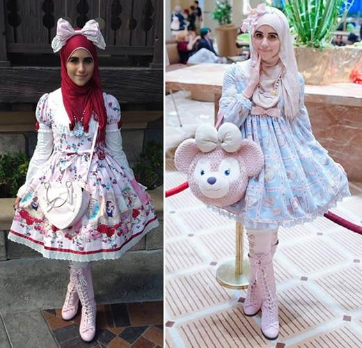 Phong cách Lolita và khăn trùm đầu theo kiểu Hồi giáo.