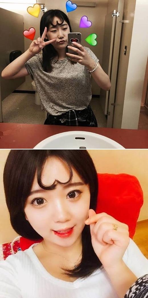 """Nhiều cô gái Hàn Quốc đã phải lòng một kiểu tóc mới với tên gọi """"하트 앞머리 - hateu aapmuhri"""", có nghĩa là """"trái tim được đặt trên trán""""."""