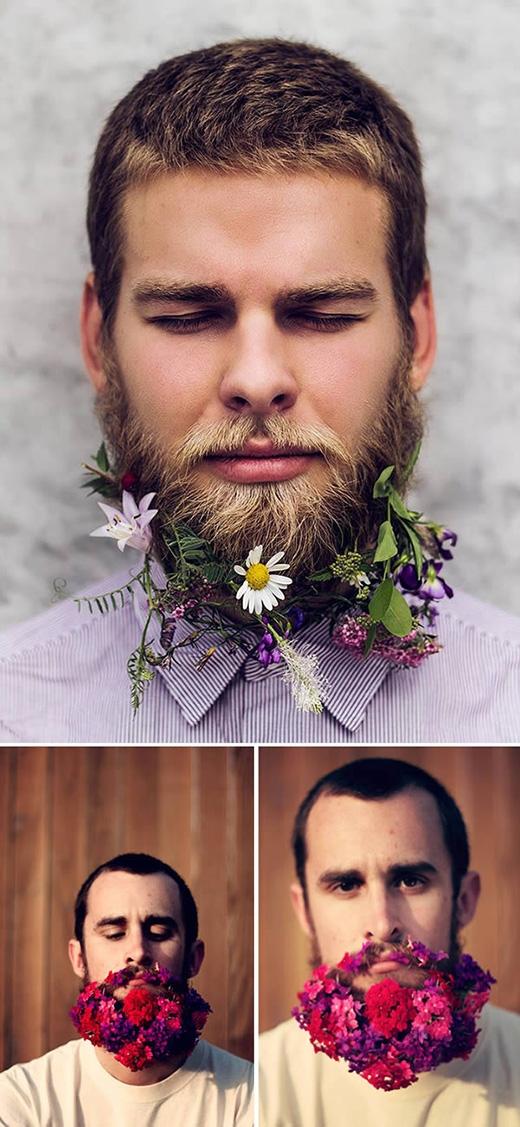 Những bộ râu rậm rạp được trang trí bởi nhiều bông hoa đan cài một cách khéo léo, tỉ mỉ khiến người ta liên tưởng đến sự phóng khoáng, tự do, bụi bặm trong phong cách Bohemian của vùng đất châu Mĩ.
