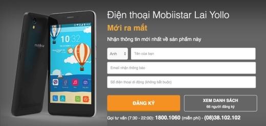 Lai Yollo được mở bán online chính thức kênh bán lẻ thegioididong.com vào đầu tháng 9/2015.