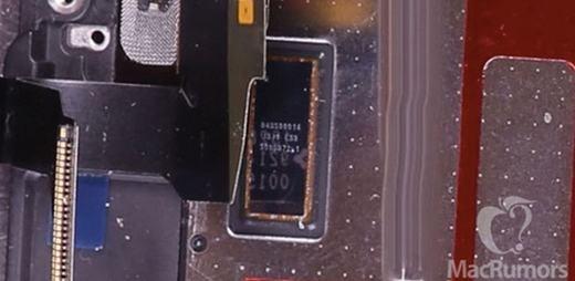 Mô-đun lạ được cho là để điều khiển Force Touch trên iPhone 7. Ảnh: MacRomors.