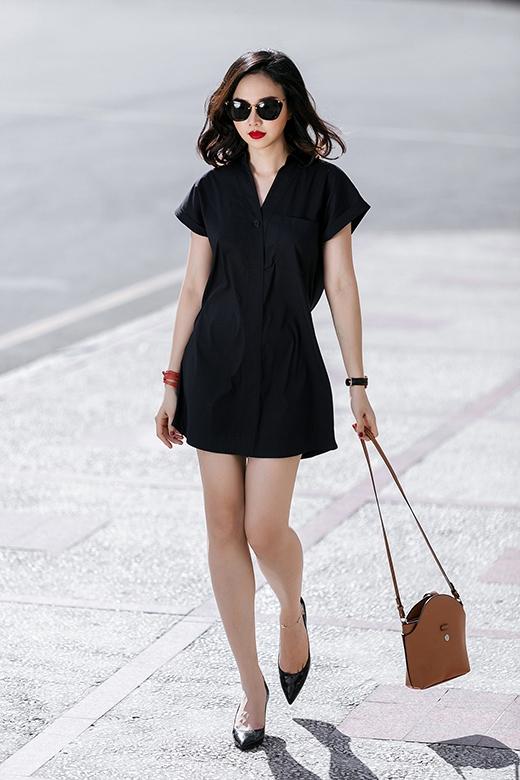 Thời trang dạo phố đơn sắc đầy quyến rũ của Đinh Ngọc Diệp