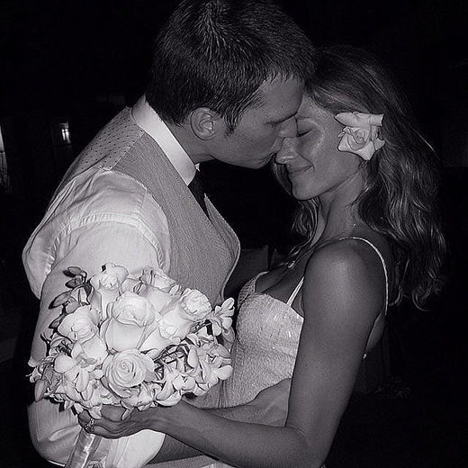 Gisele Bündchen chia sẻ khoảnh khắc ngọt ngào trọng đại của mình vào tháng 1/2009 cùng chồng Tom Brady.