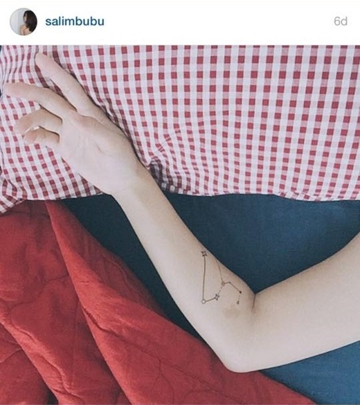 Ảnh củaSalimđăn tải, cả hai bức ảnh đều được cho rằng chụp chung một địa điểm bởi màu gối và đệm giường giống hệt nhau.