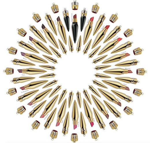 Bộ sưu tập 36 màu son của Christian Louboutin.