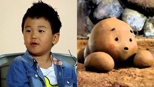 Hình ảnh sao nhí Yoon Hoovà nhân vậtDog Pookhiến khán giả thích thú vì quá giống nhau.