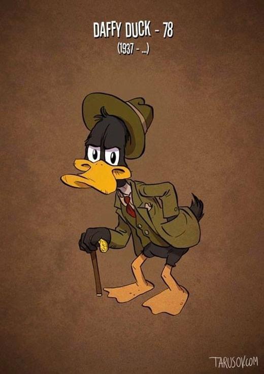 Còn ai nhớ vịt Daffy đã từng trẻ trung đáng yêu thế nào không?