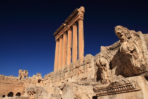 Đền thờ thần Jupiter sừng sững giữa đất trời. (Ảnh: Internet)