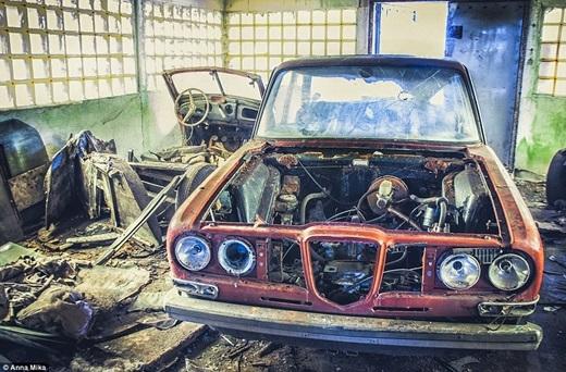 Những chiếc xe hỏng hóc bị lãng quên ở một nghĩa trang xe hơi tạiBa Lan – nơi mà dường như chỉ mình Anna nhìn ra được vẻ đẹp tiềm ẩn.