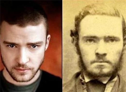 Justin Timberlake được biết đến với nhiều vai trò: ca sĩ, diễn viên, vũ công, diễn viên hài, nhà sản xuất, nhạc sĩ, doanh nhân và nhà từ thiện. Thế nhưng ít ai biết được anh chàng lại có vẻ ngoài giống hệt một tên tội phạm vô danh ở những thế kỉ trước.