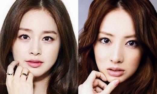 Ngọc nữ Kim Tae Hee và Keiko Kitagawa đều khiến đối phương phải ngẩn ngơ vì vẻ đẹp tựa nữ thần của mình