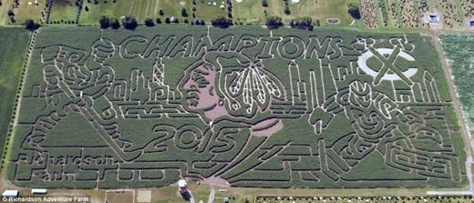 Mê cung Richardson Adventure Farm, Illinois hoành tráng này đã giật giải quán quân của cúp Stanley (Stanley Cup Championship).