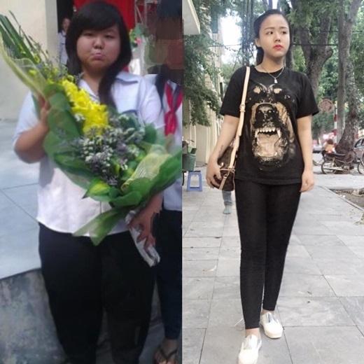 Nghị lực của cô nàng giảm hơn 50kg đang là tâm điểm chú ý của cộng đồng mạng.