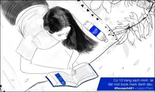 """Hãy dùng những chiếc """"bookmark 421"""" nhỏ xinh khi đọc sách để vừa thư giãn vừa không quên cung cấp nước cho cơ thể nhé!"""