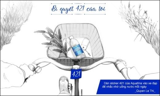 """Ngay cả khi đi xe đạp, bạn chỉ cần dán một miếng """"sticker"""" ở vị trí dễ nhìn thì sẽ luôn nhớ đến công thức 421."""
