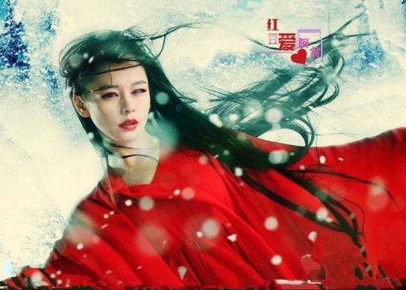 Trong cảnh tuyết bay đầy trời bi thảm, nhân vật Lâm Triều Anh (Đổng Tuyền) ở Tân Thần Điêu Đại Hiệp và Tuyết Yêu (Từ Nhược Tuyên) đều mặc chung bộ váy đỏ và biểu cảm giống hệt nhau.