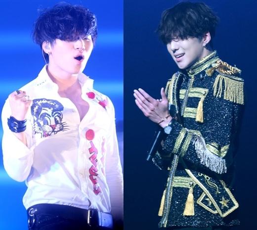 Trưởng nhóm Seungyoon hóa thân vào Daesung với kiểu tóc che hết mặt đặc trưng trong đợt trở lại gần đây.