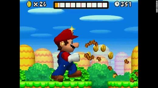 Game Super Mario Bros có tên mới là New Super Mario, cho trải nghiệm mới mẻ.