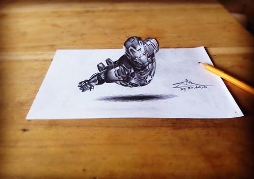 An cũng thử sức mình với thể loại vẽ 3D. (Ảnh: Internet)