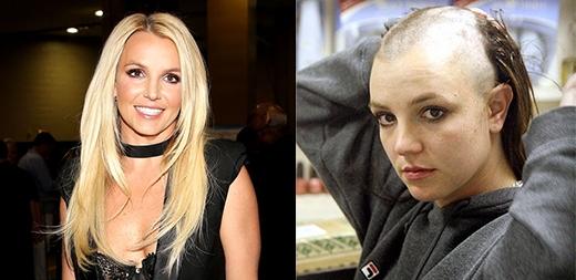 Trong cơn khủng hoảng tinh thần vào tháng 2/2007, Britney Spears đã cạo đi mái tóc dài của mình.