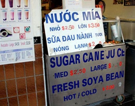 Một li nước mía ngọt ngào nơi xứ người có giúp người Việt bớt nhớ quê nhà hơn chăng?(Nguồn: Internet)