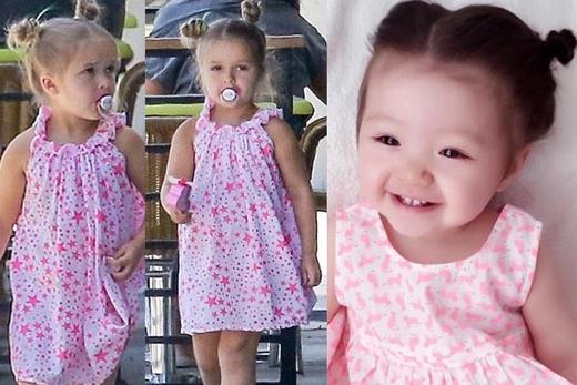 Con gái Elly Trần giống công chúa nhà Beckham đến kinh ngạc