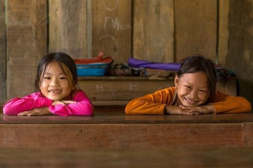 Nụ cười trong sáng của trẻ em người dân tộc tại trường(Ảnh:Rehahn)