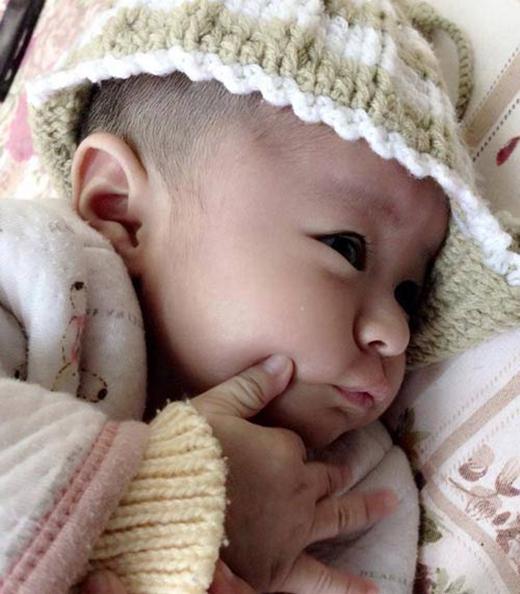 Hình ảnh con gái chị Thanh khi mới chào đời.